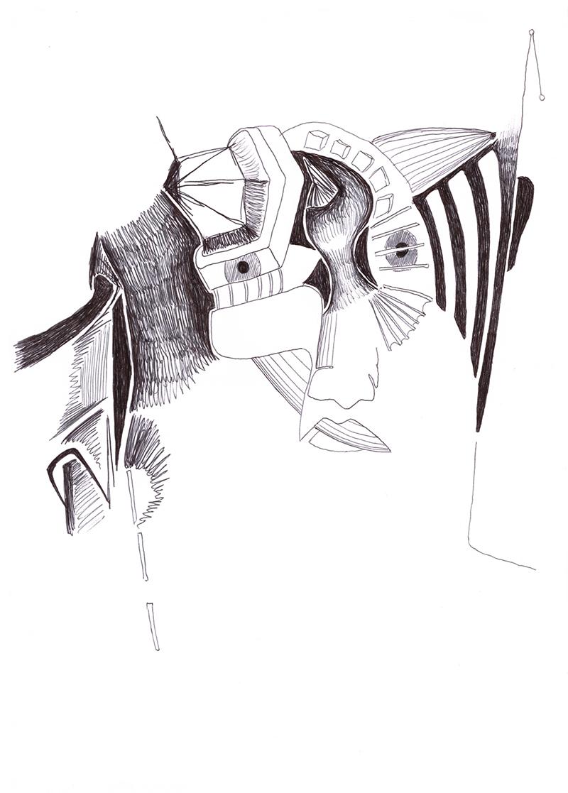 Kunstfliegerei - Galerie Kunstfliegerei - Zeichnung