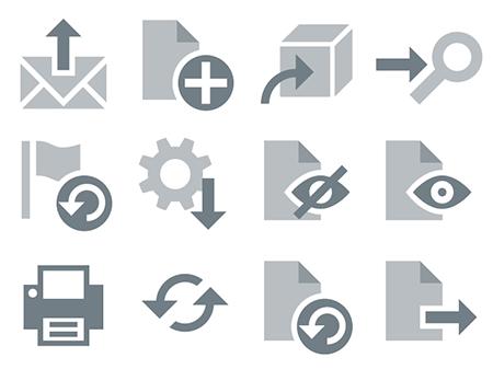 Kunstfliegerei - Grafik - Icons